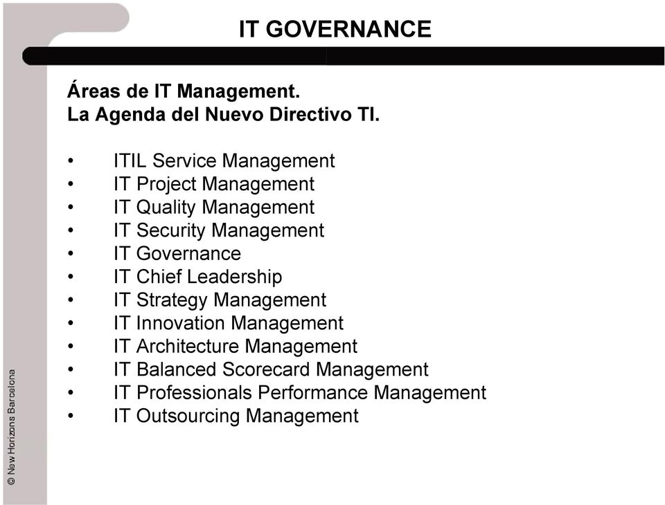 Management IT Governance IT Chief Leadership IT Strategy Management IT Innovation