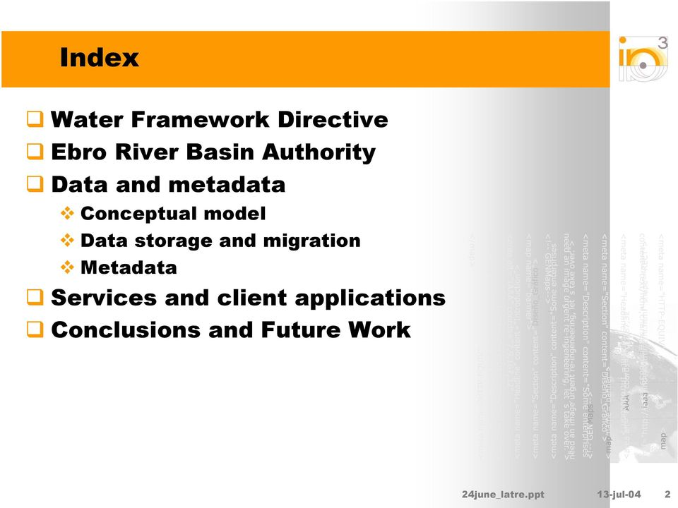 storage and migration Metadata Services and client