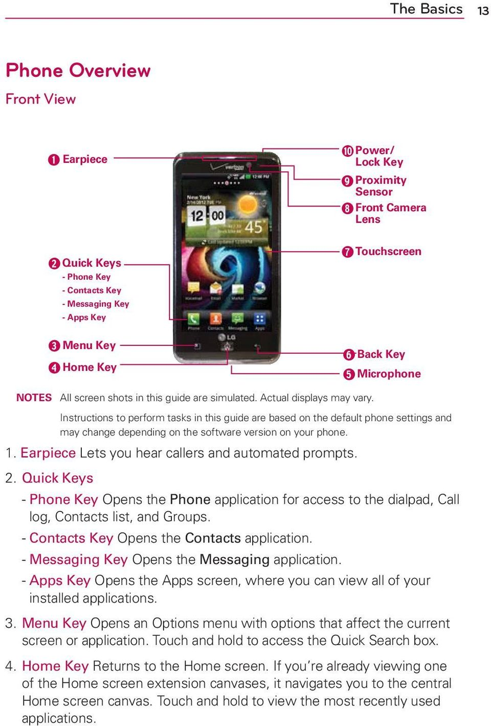 Instructions to perform tasks in this guide are based on the default phone settings and may change depending on the software version on your phone. 1.