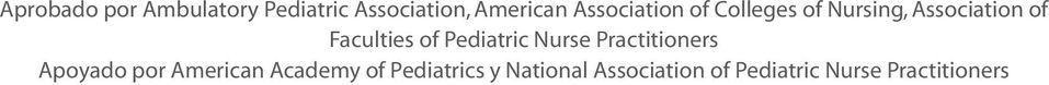 of Pediatric Nurse Practitioners Apoyado por American Academy
