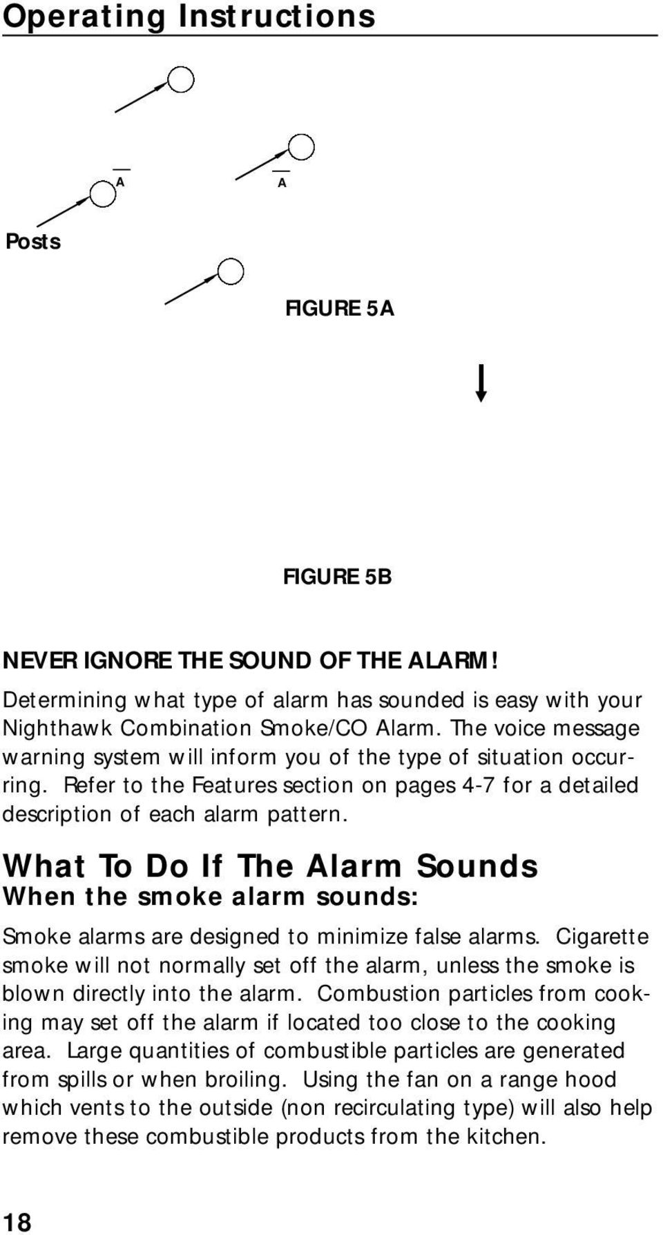 What To Do If The Alarm Sounds When the smoke alarm sounds: Smoke alarms are designed to minimize false alarms.