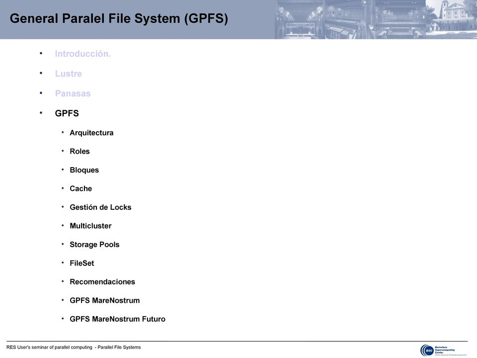 Locks Multicluster Storage Pools Set Recomendaciones GPFS