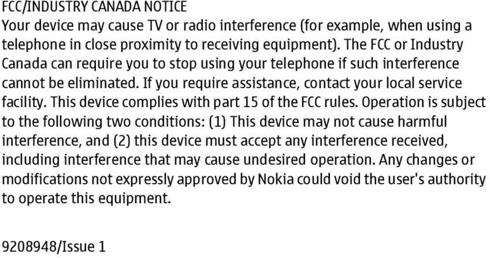 This device complies with part 15 of the FCC rules.