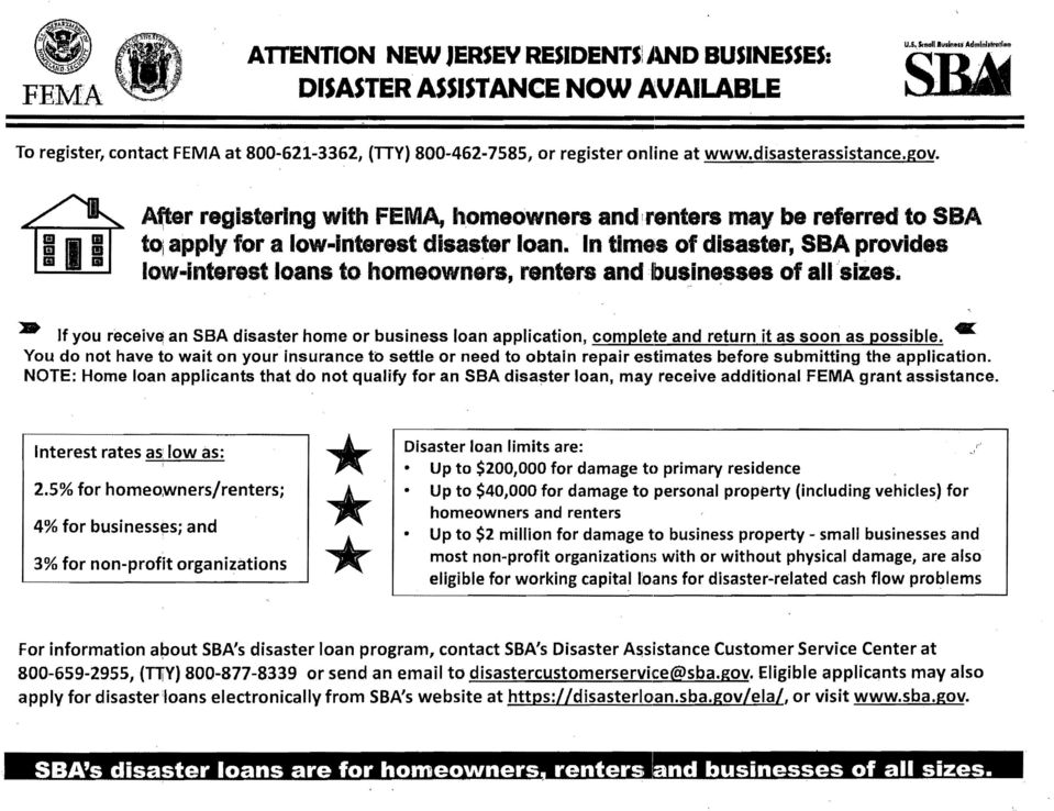 BlIII a iii III Af:ter registering with FEMA, homeowners andirentars may be referred to SBA toi apply for a low lnterest disaster loan. In times of disaster, SBA provide.