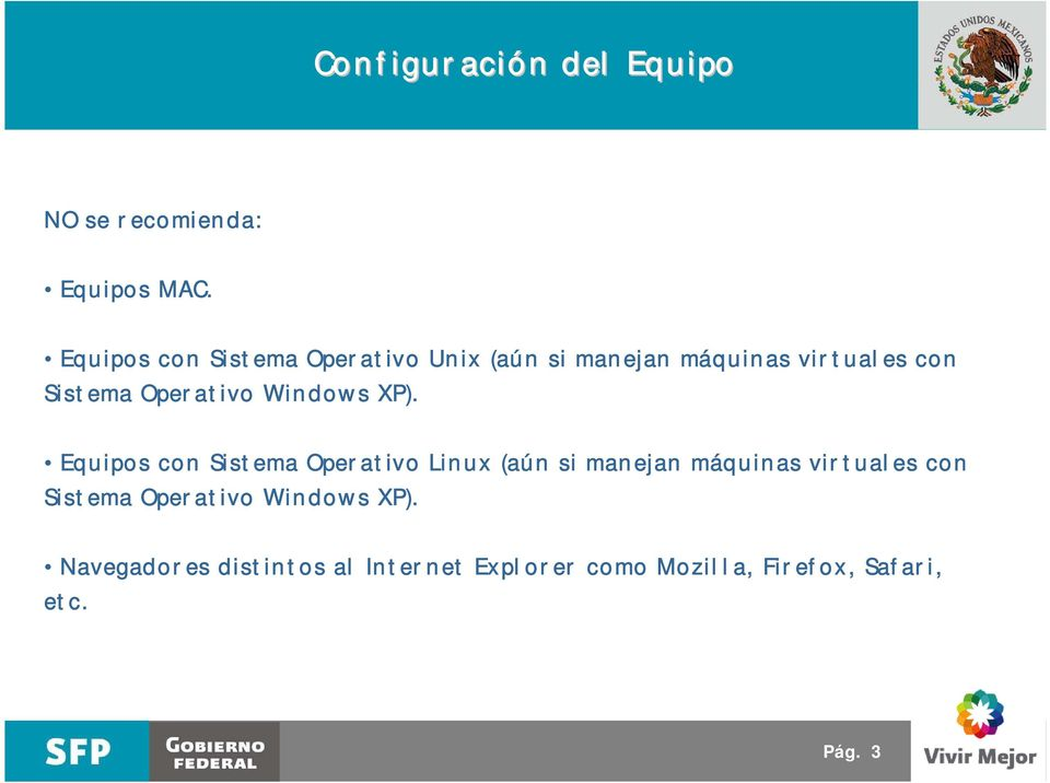 Operativo Windows XP).