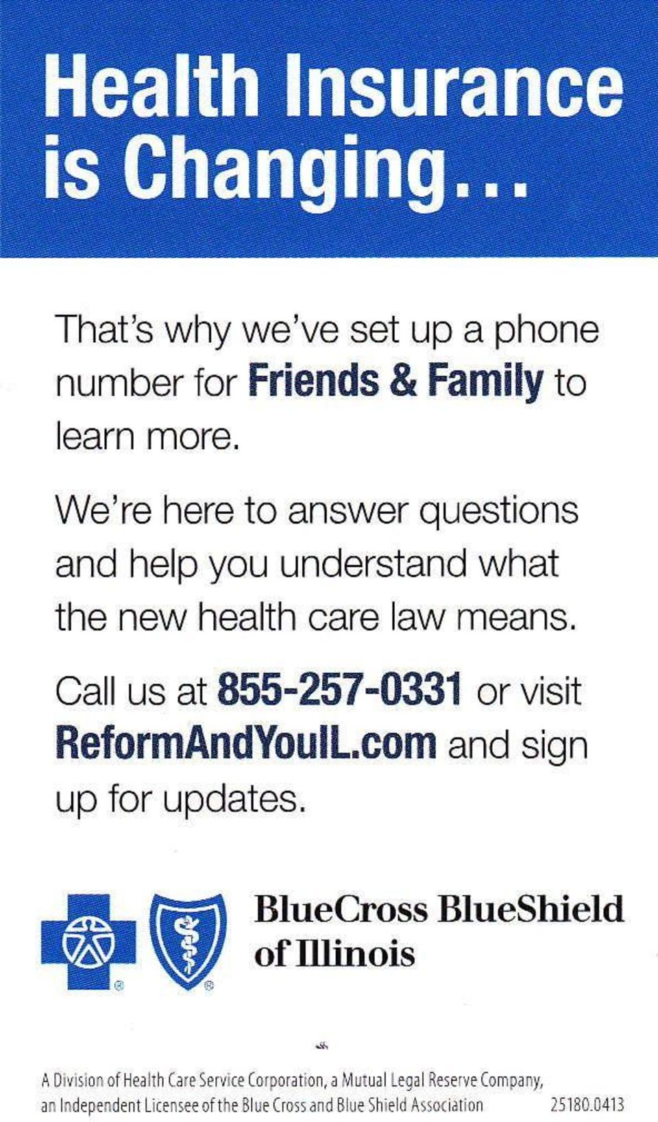 Call us at 855-257-03i!1 or visit ReformAndYoull.com and sign up for updates.