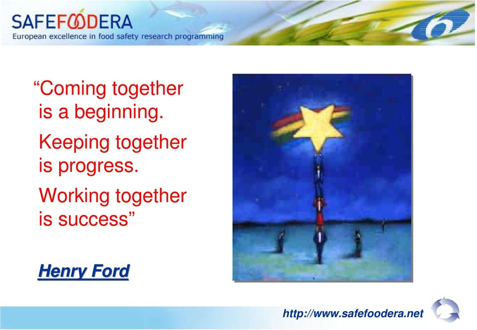 Working together is success