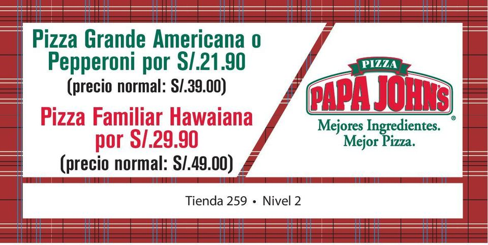 00) Pizza Familiar Hawaiana por S/.29.