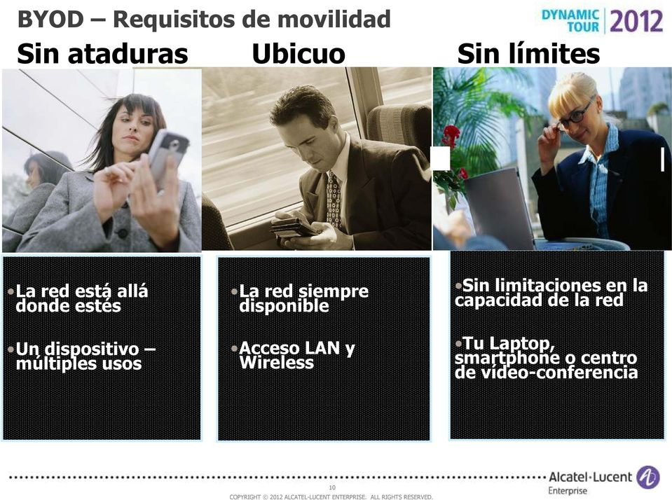 siempre disponible Acceso LAN y Wireless Sin limitaciones en la
