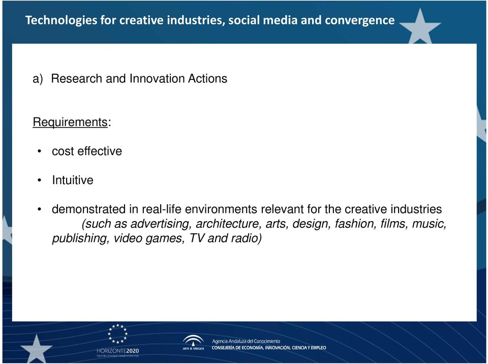 creative industries (such as advertising, architecture, arts,