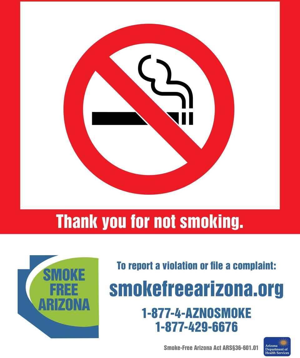 file a complaint: smokefreearizona.