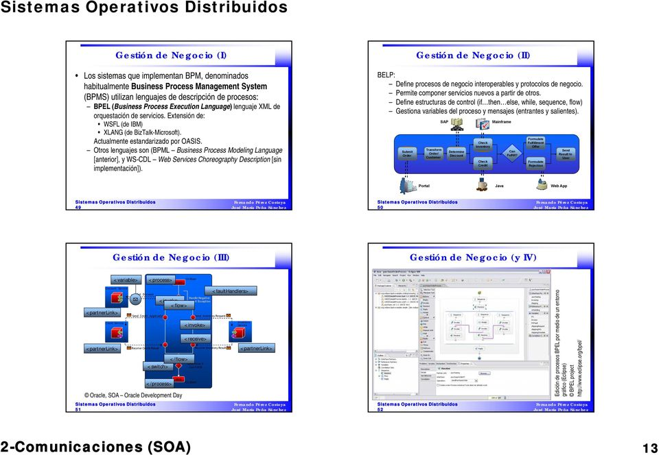 Otros lenguajes son (BPML Business Process Modeling Language g [anterior], y WS-CDL Web Services Choreography Description [sin implementación]).