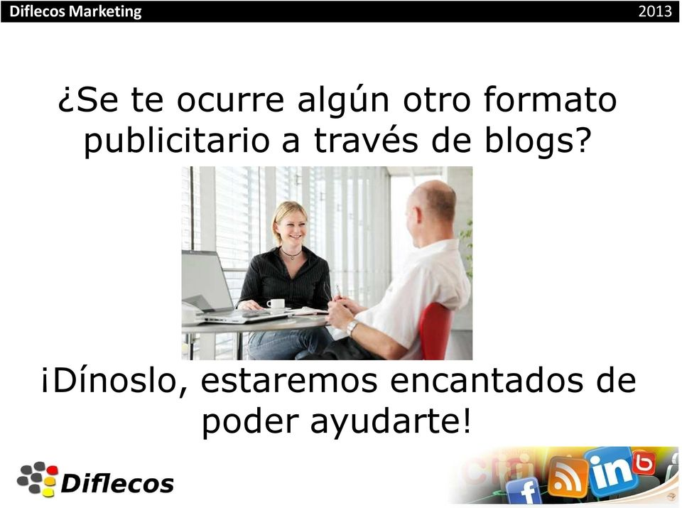 través de blogs?