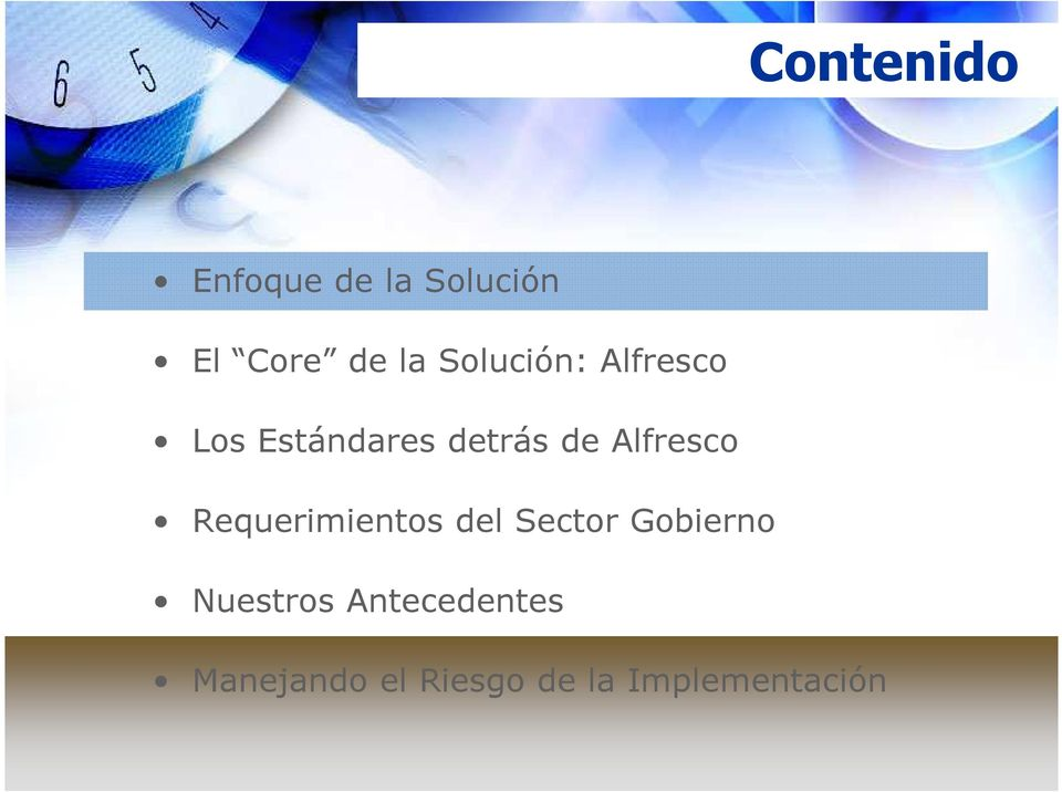 Alfresco Requerimientos del Sector Gobierno