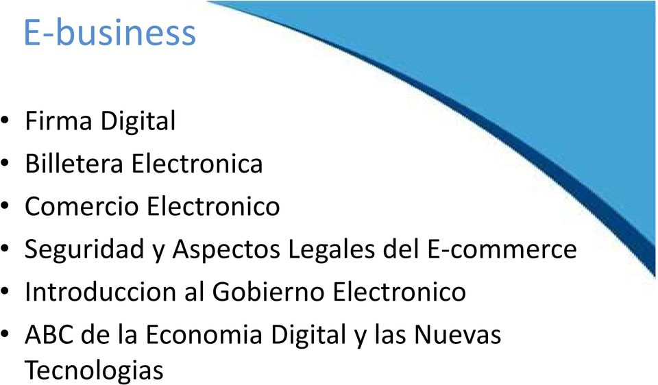 del E-commerce Introduccion al Gobierno