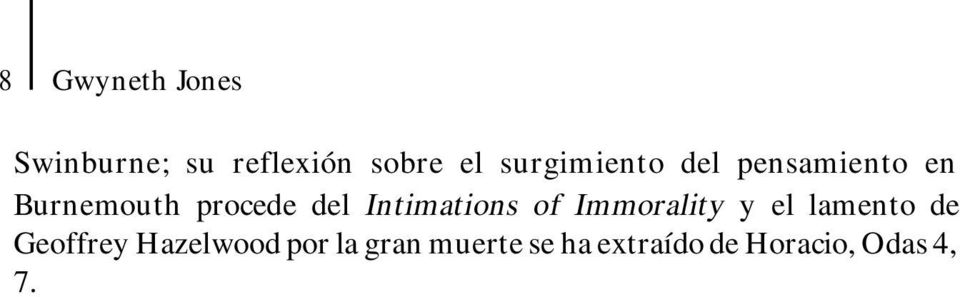 Intimations of Immorality y el lamento de Geoffrey