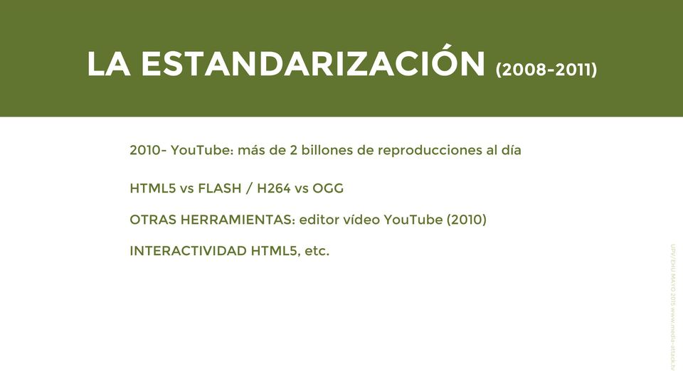 HTML5 vs FLASH / H264 vs OGG OTRAS