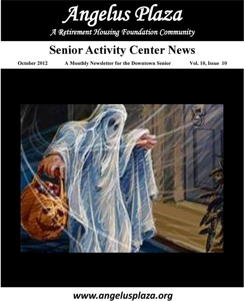 News October 2012 A Monthly Newsletter for