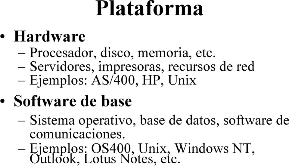Unix Software de base Sistema operativo, base de datos, software