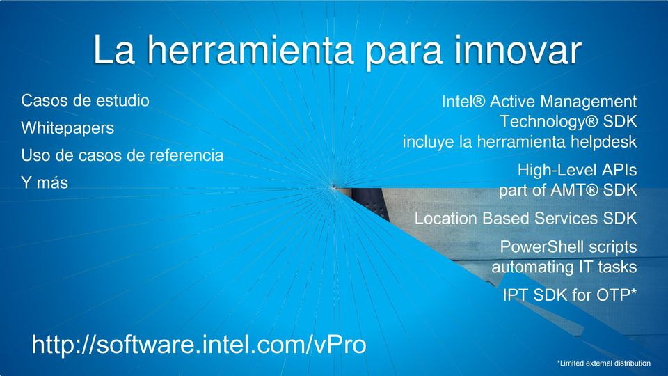 com/vpro Intel Active Management Technology SDK incluye la herramienta helpdesk