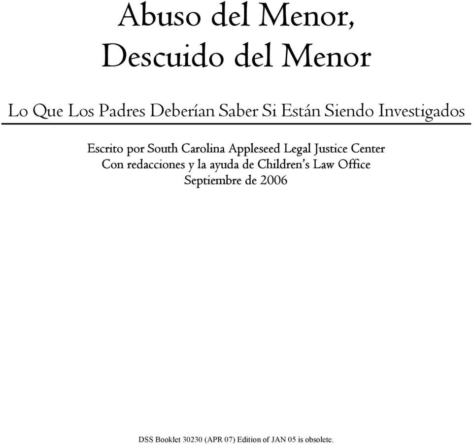 Appleseed Legal Justice Center Con redacciones y la ayuda de