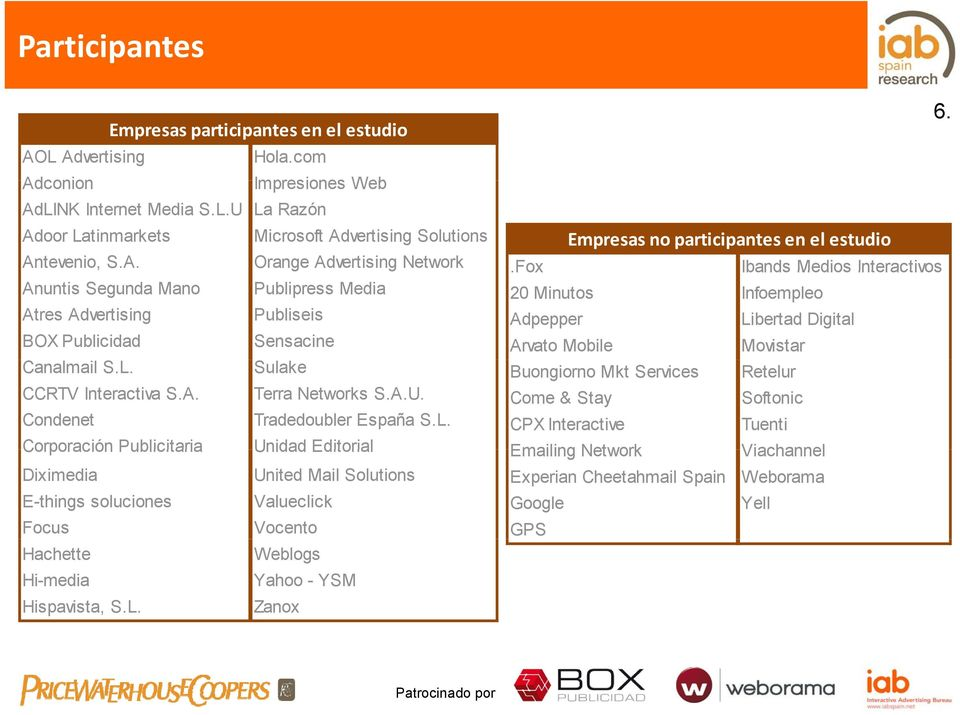 Fox Ibands Medios Interactivos Anuntis Segunda Mano Publipress Media 20 Minutos Infoempleo Atres Advertising Publiseis Adpepper Libertad Digital BOX Publicidad Sensacine Arvato Mobile Movistar
