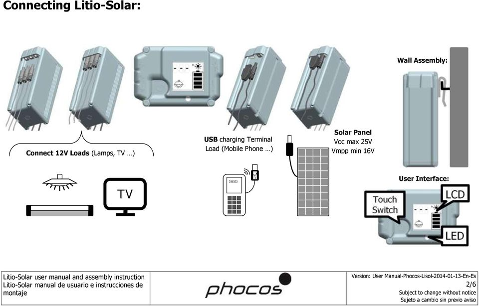 Terminal Load (Mobile Phone ) Solar Panel