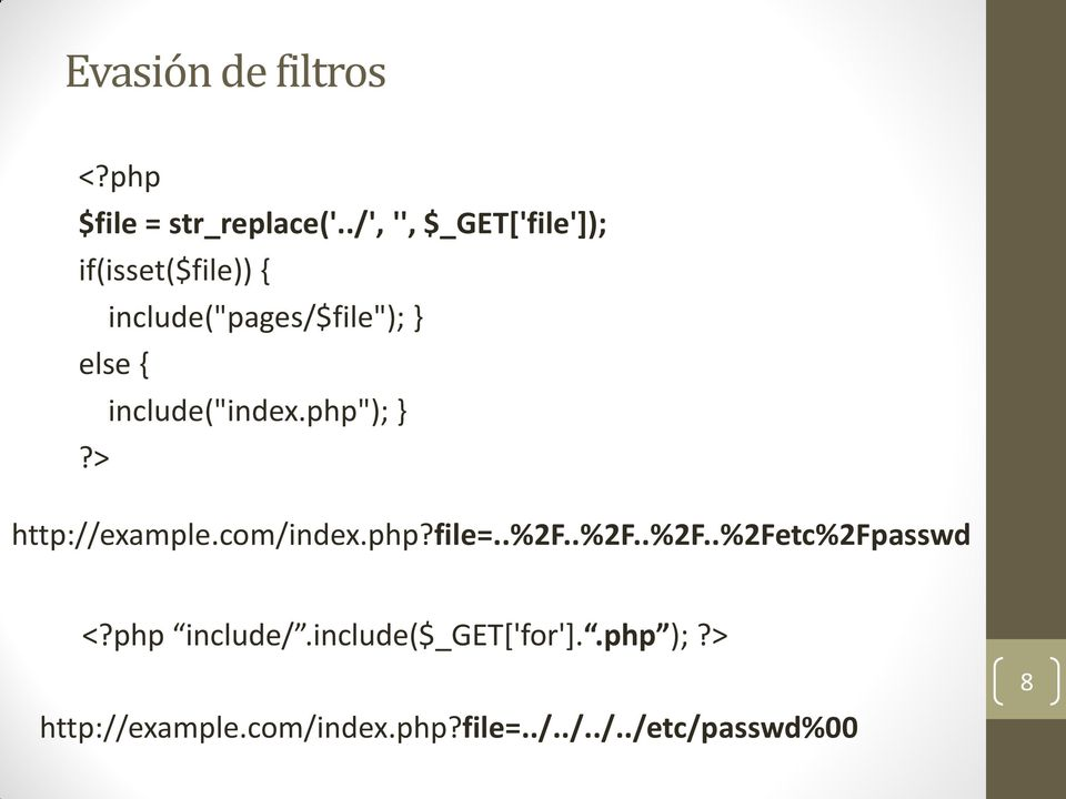 "include(""index.php""); }?> http://example.com/index.php?file=..%2f."