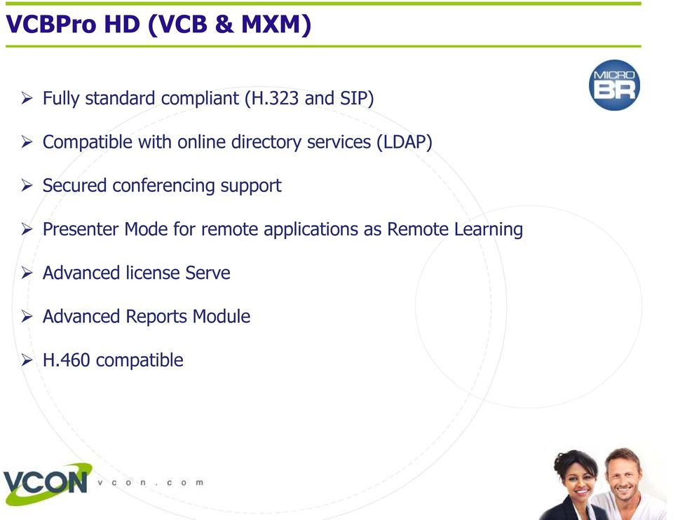 Secured conferencing support Presenter Mode for remote