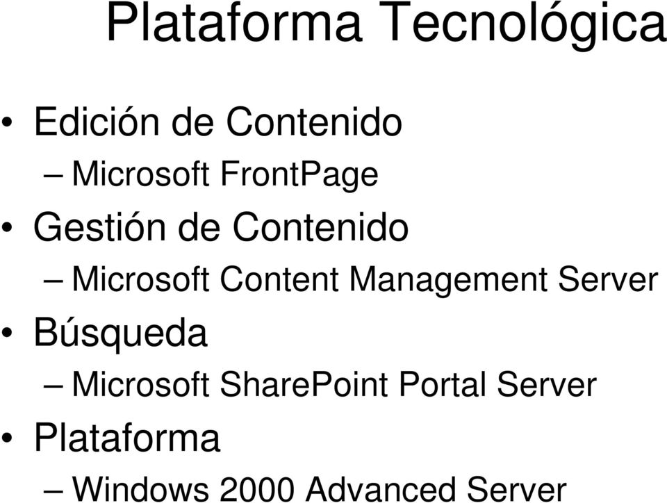 Content Management Server Búsqueda Microsoft