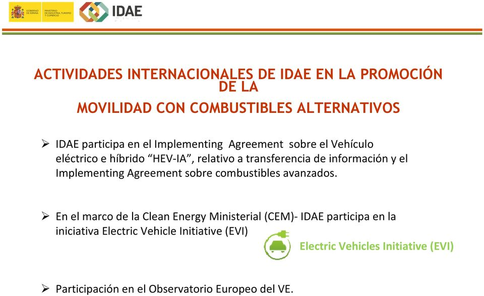 Implementing Agreement sobre combustibles avanzados.