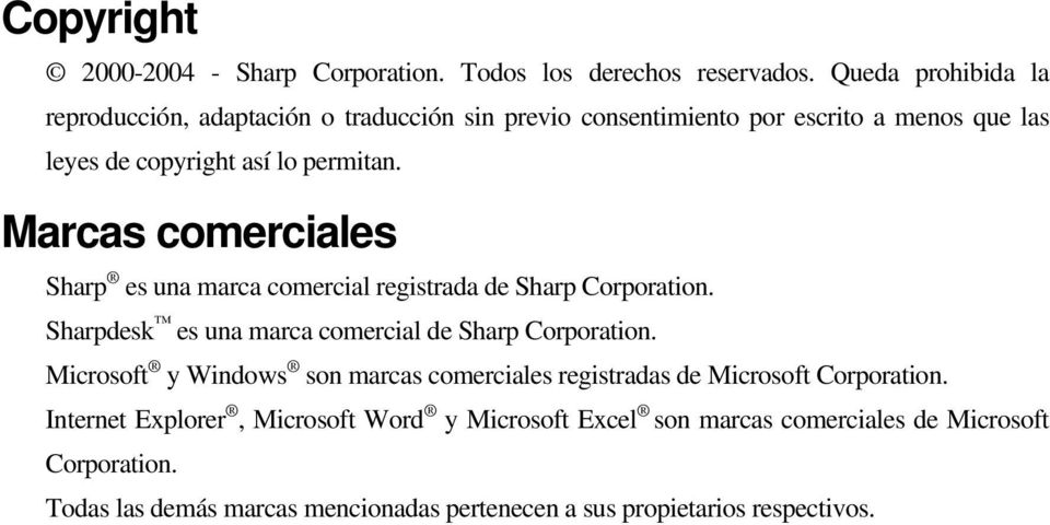 Marcas comerciales Sharp es una marca comercial registrada de Sharp Corporation. Sharpdesk es una marca comercial de Sharp Corporation.