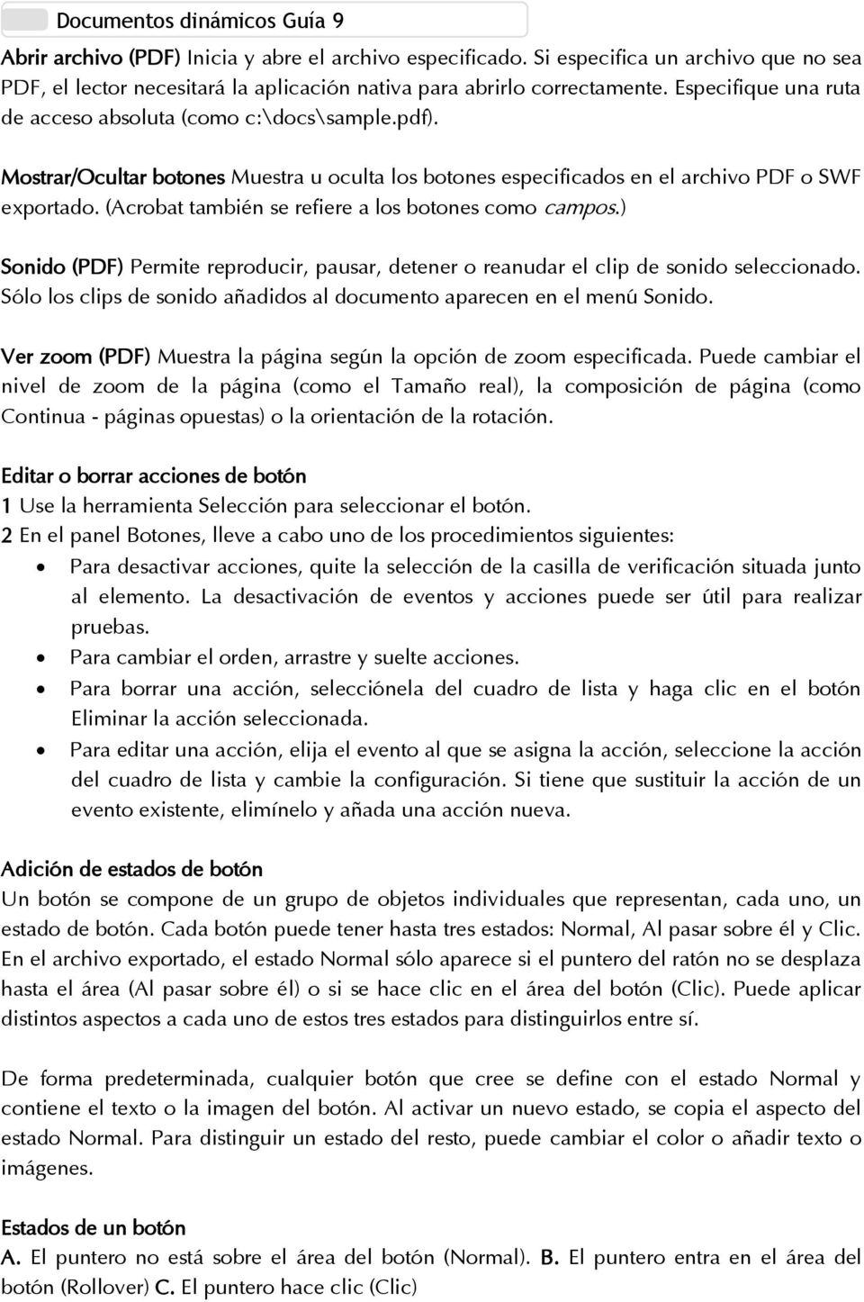 Tema: Documentos dinámicos - PDF