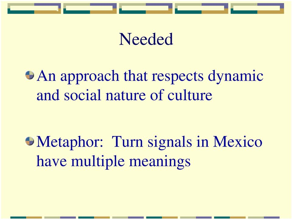 nature of culture Metaphor: