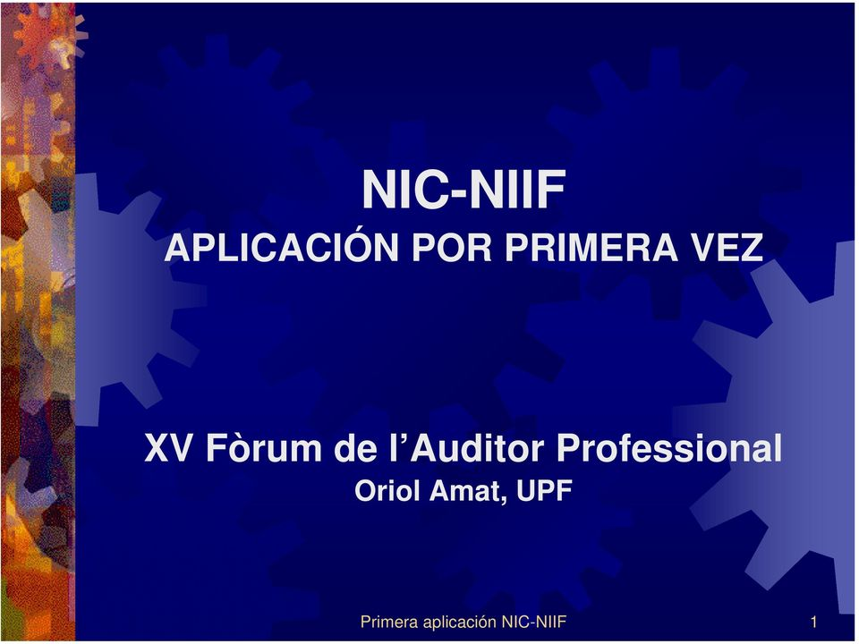 Auditor Professional Oriol