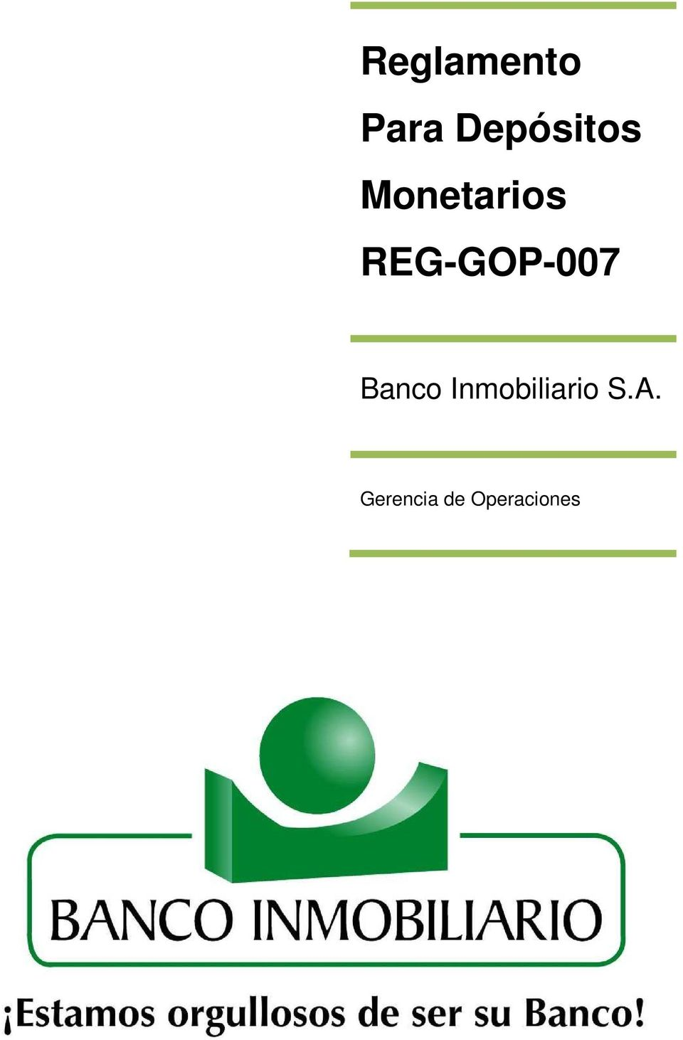 REG-GOP-007 Banco
