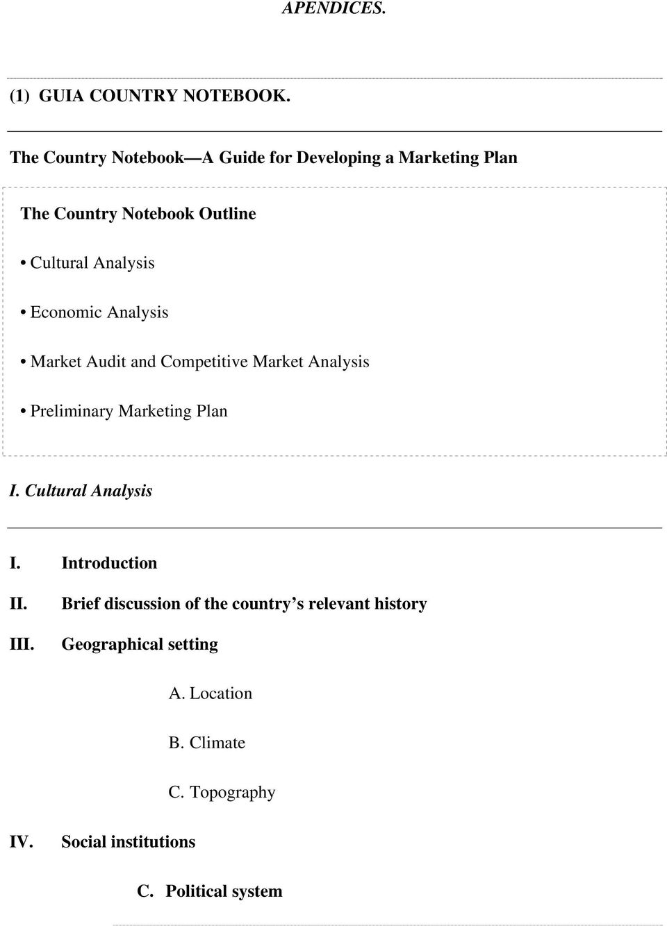 country notebook marketing Presents strategies of international marketing, its elements, types  country and the foreign market  ▫ competitive  questions and observation notebook.