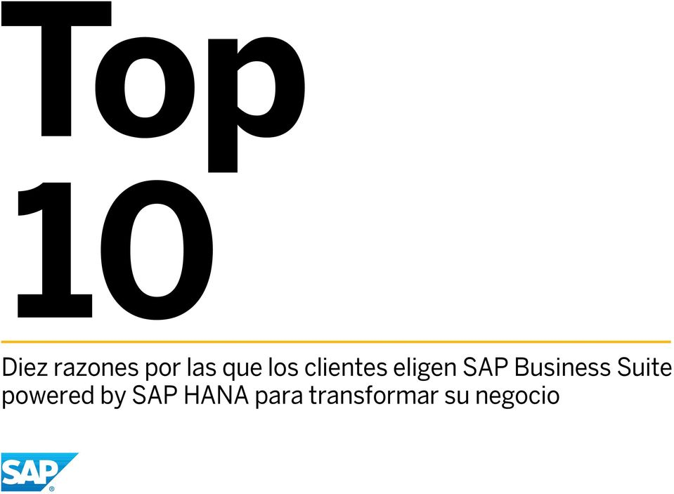 Business Suite powered by SAP