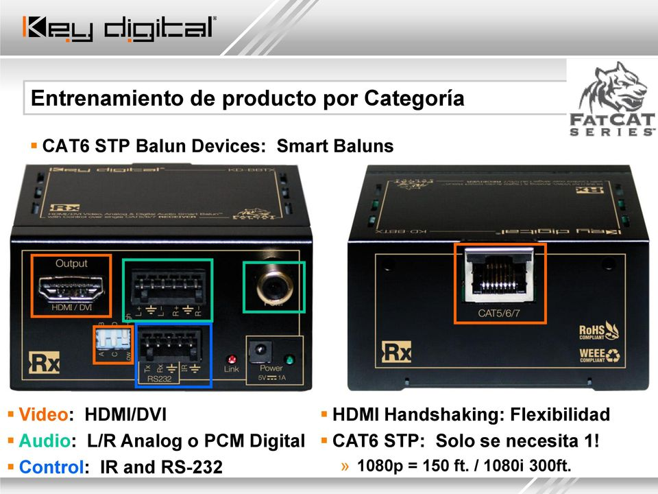 PCM Digital Control: IR and RS-232 HDMI Handshaking: