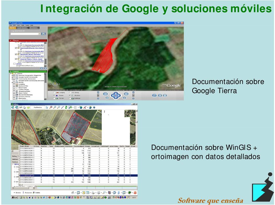 Tierra Documentación sobre WinGIS