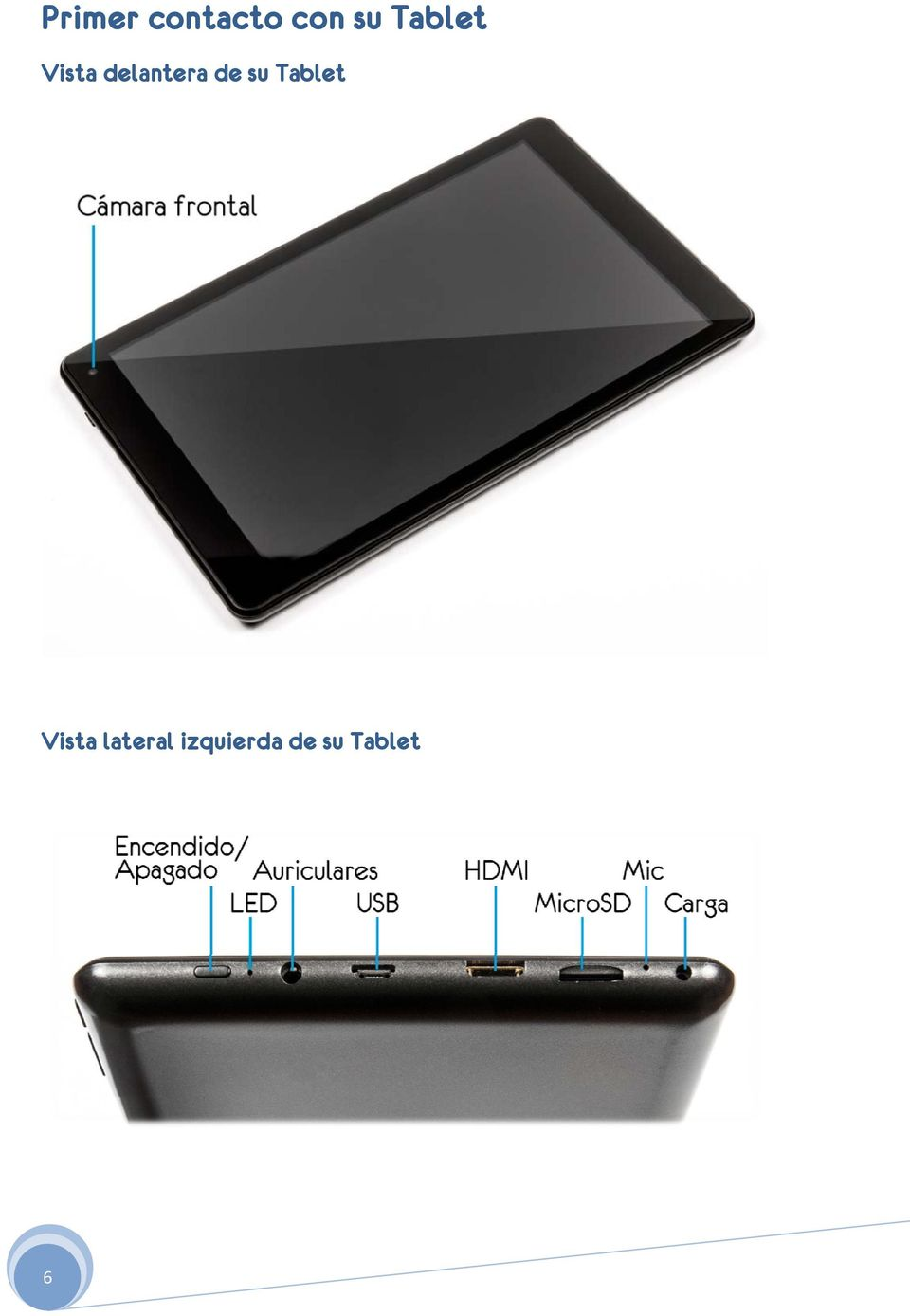 de su Tablet Vista