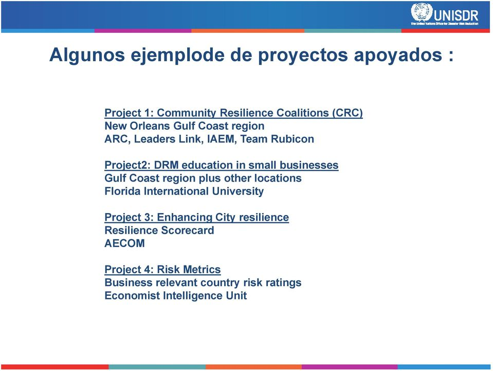 region plus other locations Florida International University Project 3: Enhancing City resilience