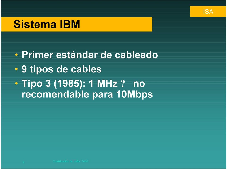 cables Tipo 3 (1985): 1 MHz?