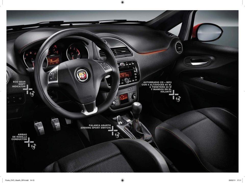 PALANCA ABARTH (DRIVING SPORT SWITCH) AIRBAG DE
