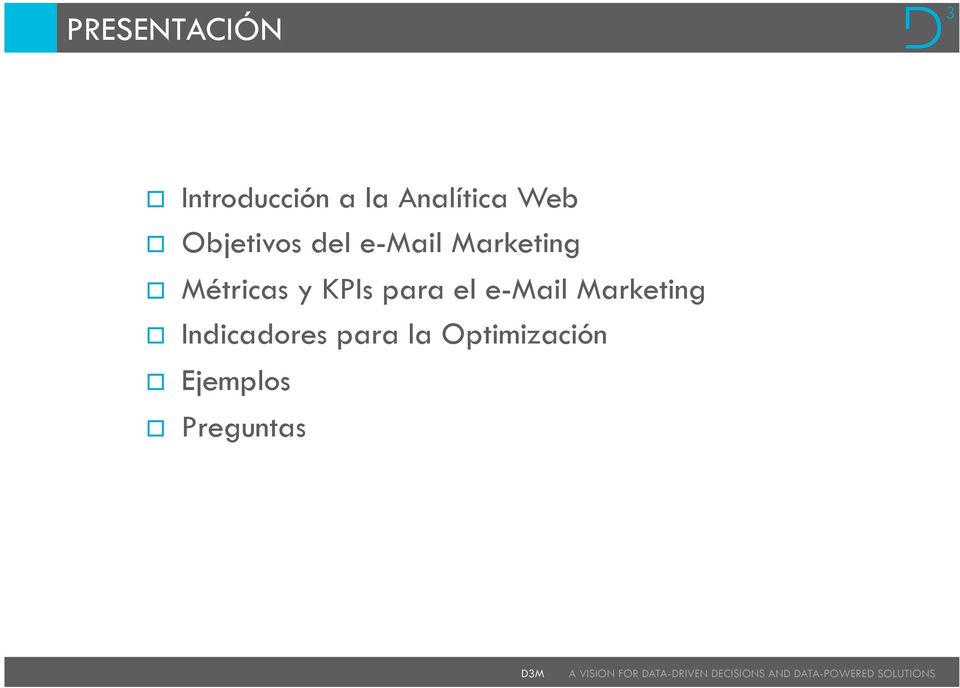 Métricas y KPIs para el e-mail Marketing