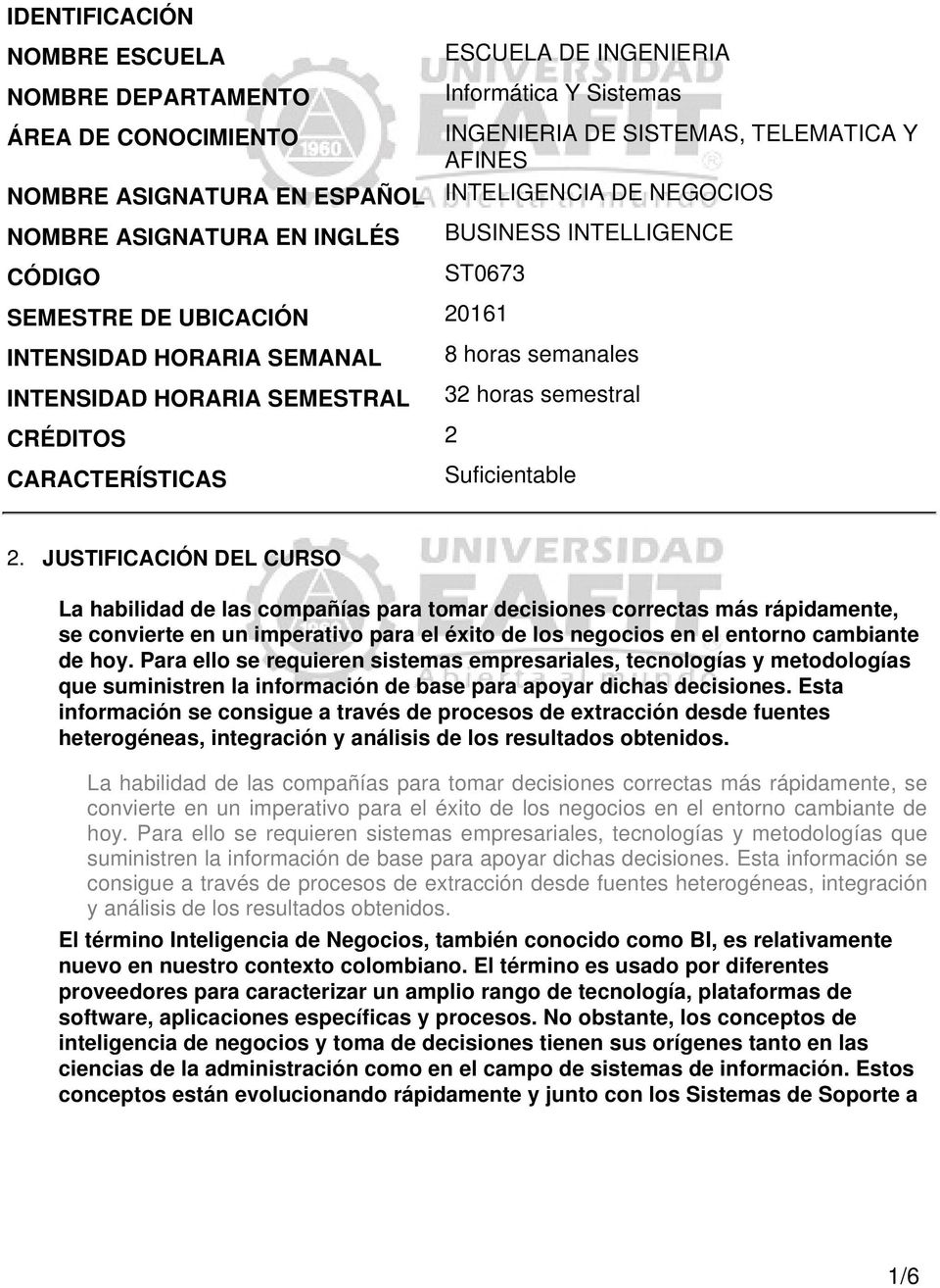 horas semanales 32 horas semestral Suficientable 2.