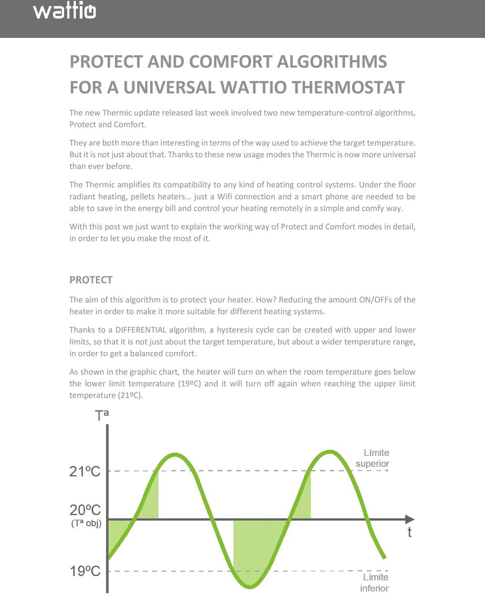 Thanks to these new usage modes the Thermic is now more universal than ever before. The Thermic amplifies its compatibility to any kind of heating control systems.