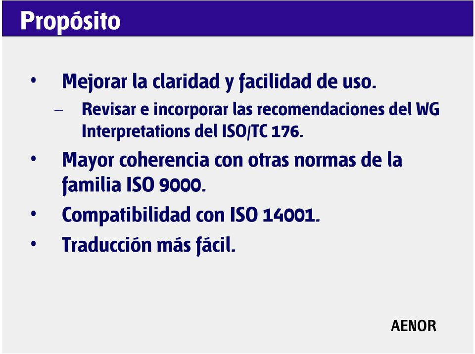 Interpretations del ISO/TC 176.