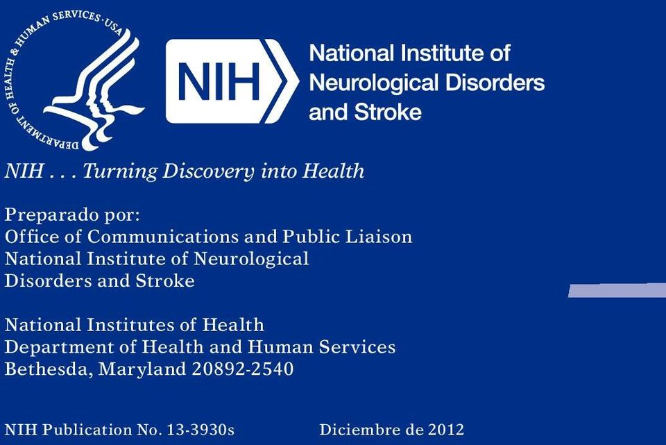 Disorders and Stroke National Institutes of Health Department of Health