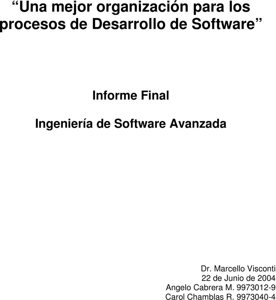 Software Avanzada Dr.